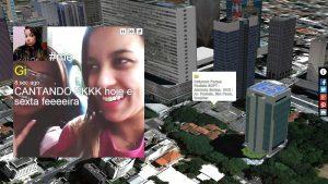 Selfie in front of skyscrapers in Sao Paulo