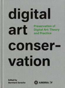 Grey book cover, black letters: Digital Art Conversation