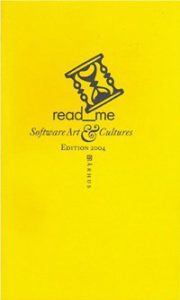 Book read_me – Software Art & Cultures
